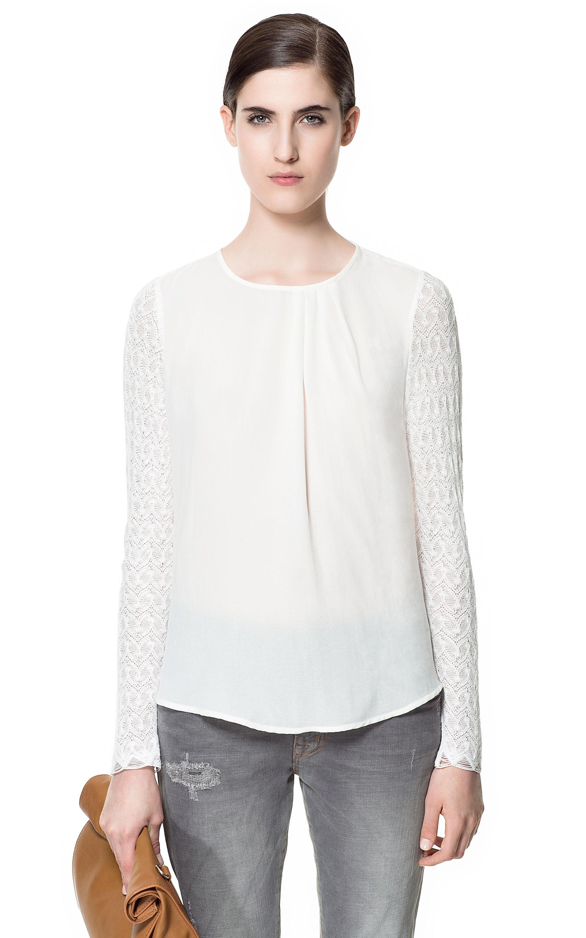 Zara Neon Lace Blouse 55